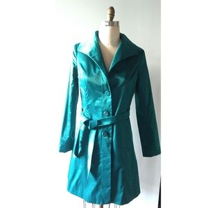 Mossimo Teal Trench Coat